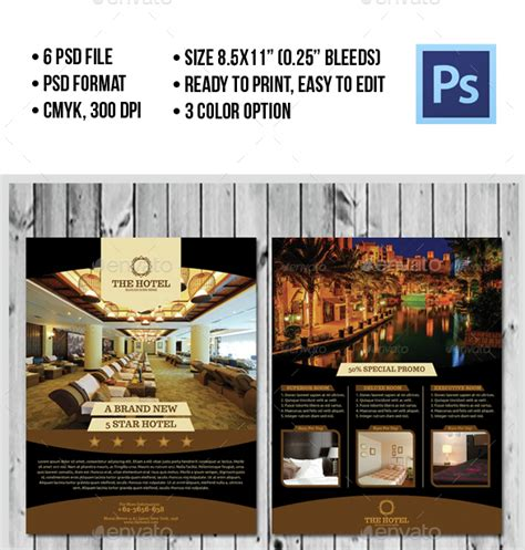 hotel promotional flyer designs templates psd ai