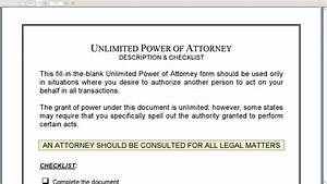 unlimited power of attorney youtube With unlimited power of attorney document
