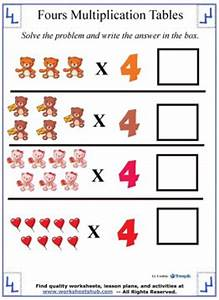 Print Times Table Chart Multiplication Table Chart Multiplying By 4