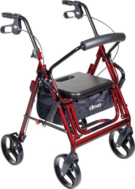 drive duet rollator chair transport walker accessories wheels pharmacy combination frame