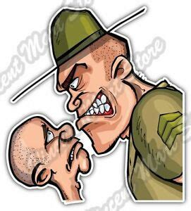 Angry Looking Army Drill Sergeant Military Car Bumper ...
