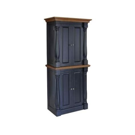 monarch pantry in black and oak 5008 65 the home depot