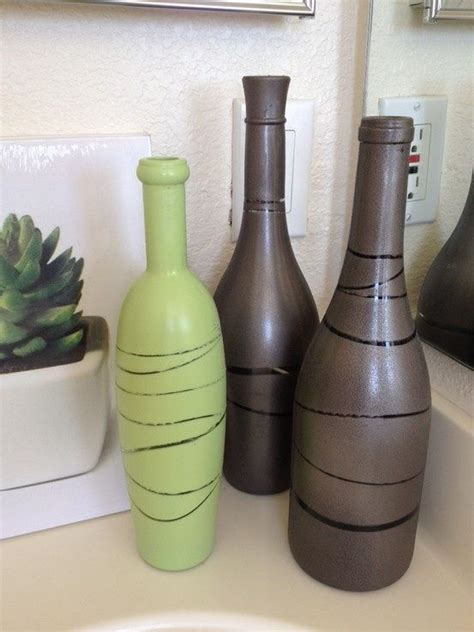 Painted Wine Bottles Rubber Bands