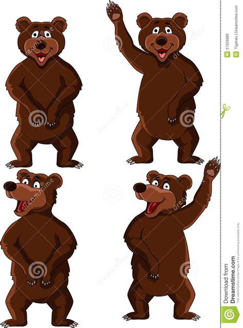 bear cartoon set stock photo image