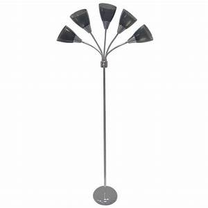 yourzone chrome 67quot 5 light floor lamp With your zone white 67 5 light floor lamp
