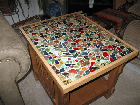 table of shards a glass mosaic tabletop collectors weekly