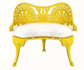 Yellow Settee by E O Supply Interior Design Yellow Settee