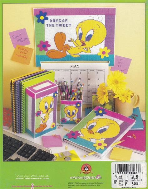 tweety bright collection leisure arts long stitch plastic