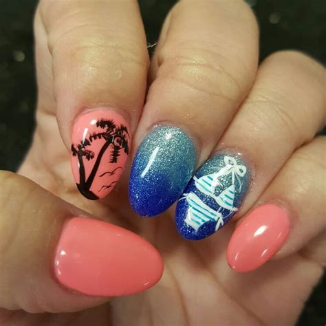 tropical nail designs 50 tropical nail designs for summer nail design ideaz
