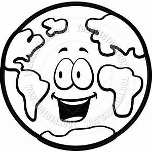 Planet Earth Clipart Black/white - ClipartXtras