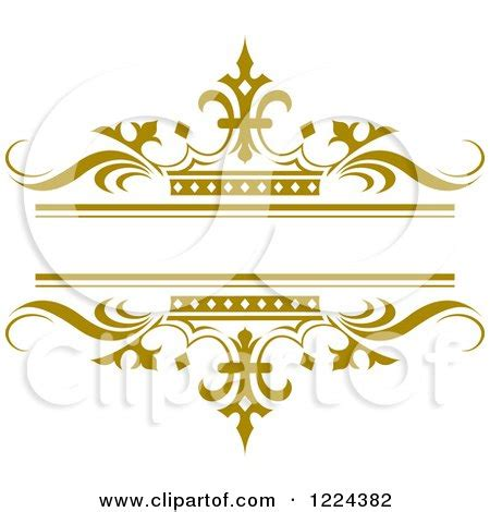 royalty free clipart clipart of a gold crown and wave wedding frame royalty