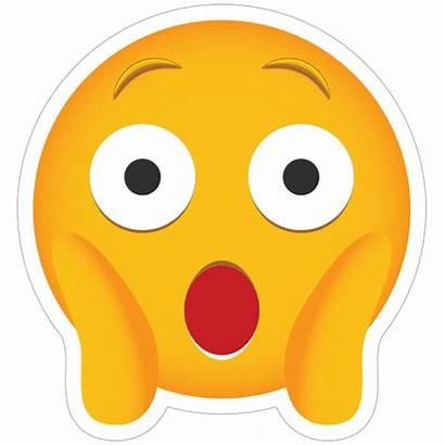 Emoji Astonished Phone Sticker Stickers Decals Clipart