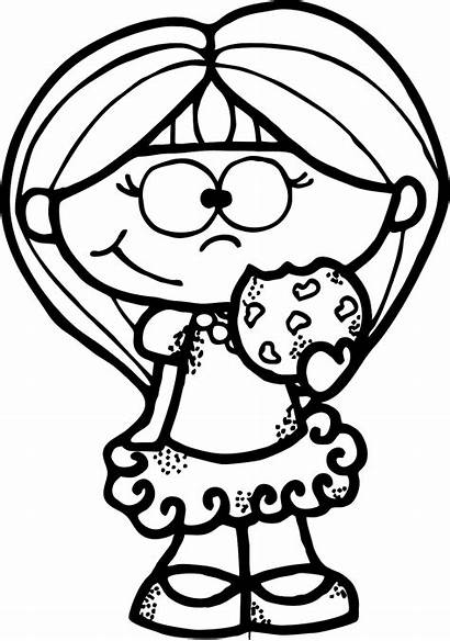 Coloring Clipart Cartoon Pages Clip Cookie Crochet