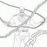 Ghost Rider Coloring Coloriage Colorare Ausdrucken Zum Disegni Comments Deviantart sketch template