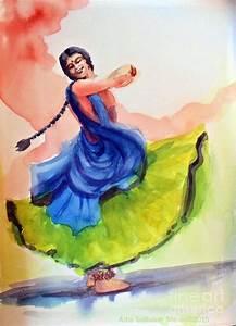 Kathak Dancer Painting by Asha Sudhaker Shenoy
