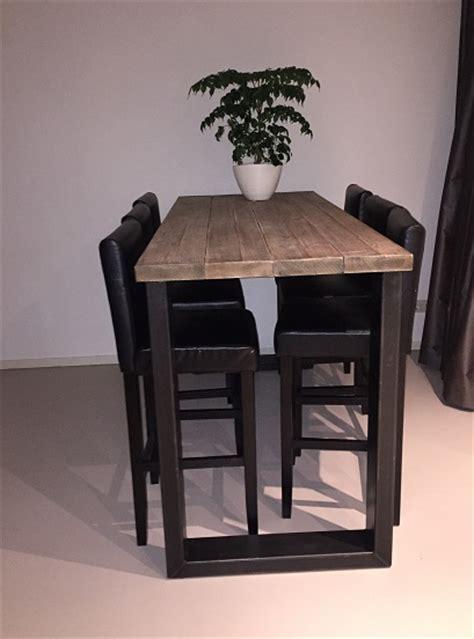 hoge tafel eefje stalen  poten balken cm breed