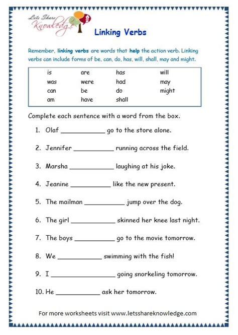 mixed grammar worksheets for grade 3 grade 3 grammar topic 14 helping verbs worksheets lets