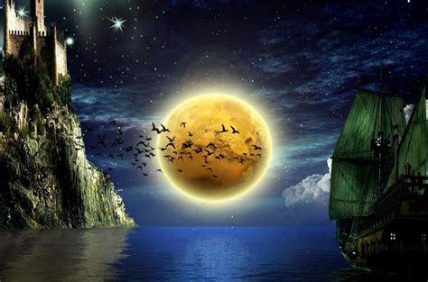 Fantasy Night Moon 4k Full Hd Wallpapers Photos Pics