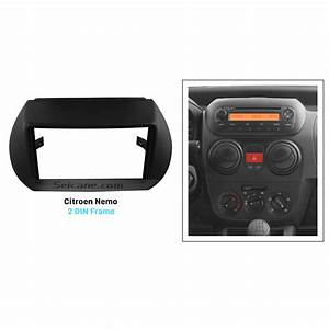 Black Double Din Citroen Nemo Car Radio Fascia Stereo Dash