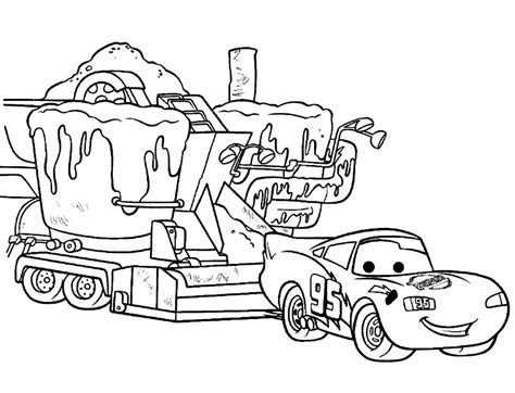 Kleurplaat Mc 2 by Coloring Pages Of Lightning Mcqueen Az Coloring Pages