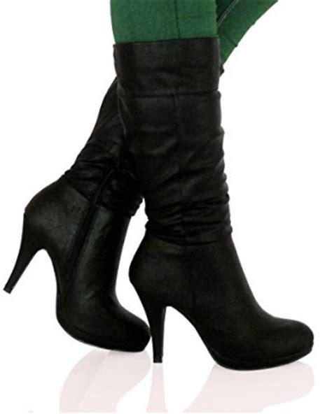 bypublicdemand bo womens mid high stiletto heel mid calf