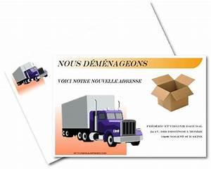 Cartons De Déménagement Gratuit : faire part de demenagement gratuit imprimer a ~ Melissatoandfro.com Idées de Décoration