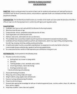 6 cna resume objectives sample templates With cna job description for resume