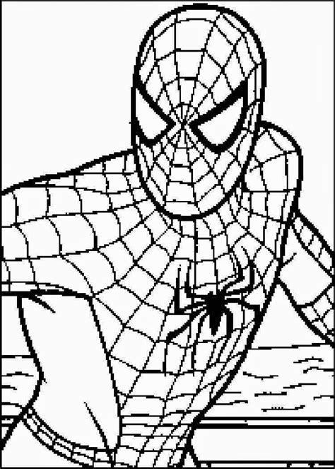 print  coloring pages spiderman coloring home