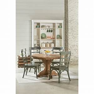 Round Pedestal Table with Scalloped Apron by Magnolia Home