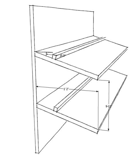 plans slanted shoe shelf plans  plans building