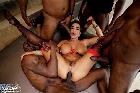 Lisa Ann Interracial Gangbang