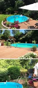 Gartengestaltung Mit Pool : die 25 besten bilder von pool umrandung pool im garten ~ A.2002-acura-tl-radio.info Haus und Dekorationen