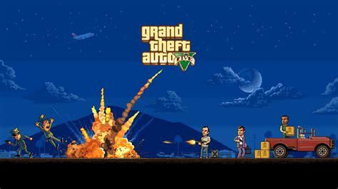 video games grand theft auto  pixel art wallpapers hd