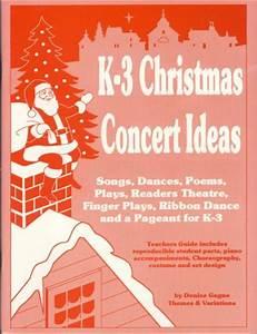 K 3 Christmas Concert Ideas Sheet Music by Denise Gagne