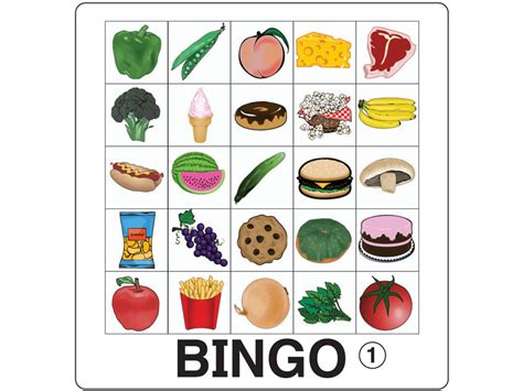 Food Bingo By Kinneybrothers