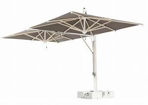 Grand Parasol Déporté : parasol g ant scolaro milano double ou poker 3x6m 3x7m 6x6m 7x7m ~ Teatrodelosmanantiales.com Idées de Décoration