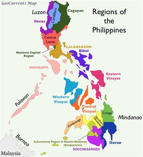 philippines regions map   regions