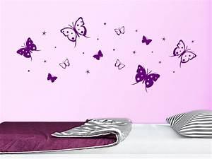 Wandtattoo Kinderzimmer Schmetterlinge : wandtattoo schmetterlinge und sterne bei ~ Sanjose-hotels-ca.com Haus und Dekorationen