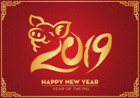 Top 60 Year Of The Pig Clip Art, Vector Graphics And