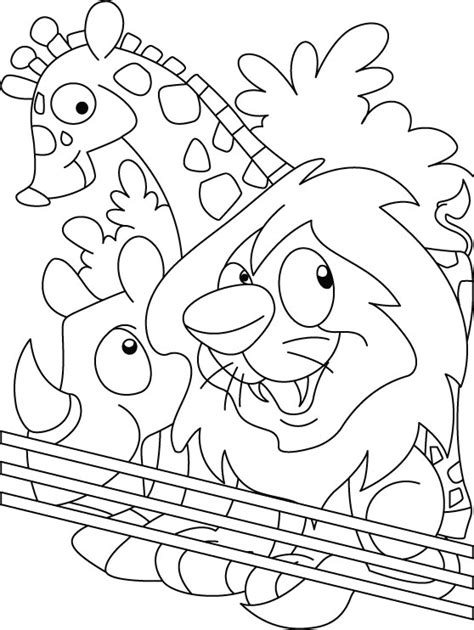 Coloring Zoo Animals by Zoo Coloring Page Free Zoo Coloring Page For