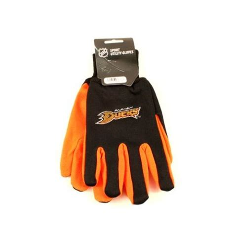 nhl licensed utility gloves anaheim ducks tone team dot grip palm