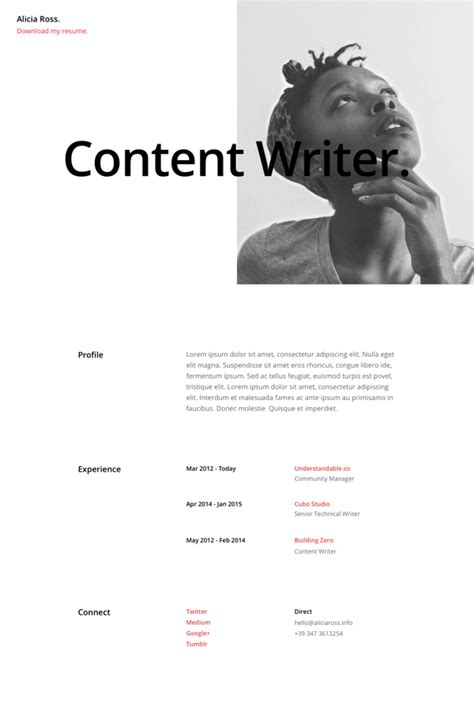 Resume Page Layout by Free Divi Resume Pages Layout Pack