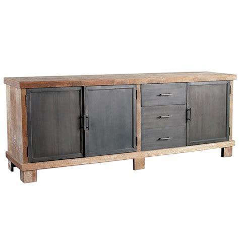 metall kommode industriedesign industriedesign sideboard geneve 204 cm holz metall
