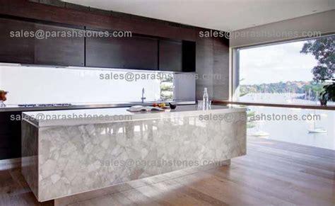 White quartz translucent countertop backsplash slab manufacturer supplier