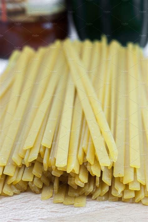 dry fettuccine pasta food drink  creative market