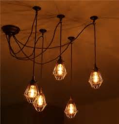 unique bathroom lighting ideas jailhouse cage cluster pendant