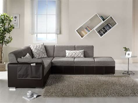 Black And Gray Sofa by Modern Black And Gray Sectional L Shaped Sofa Design Ideas