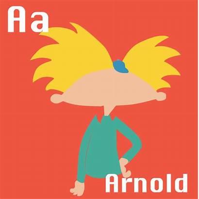 Cartoon 1990s Behance Alphabet Poster