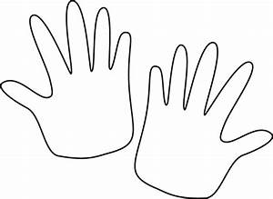 Black and White Hands Clip Art - Black and White Hands Image