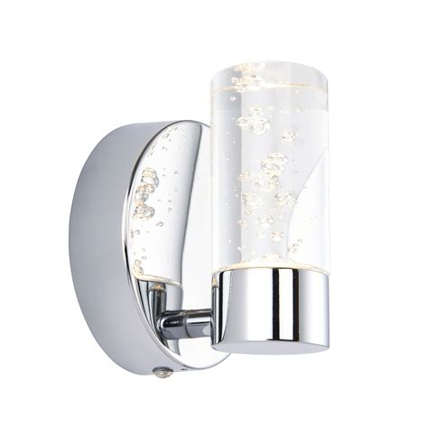 hubble bathroom chrome effect wall light departments